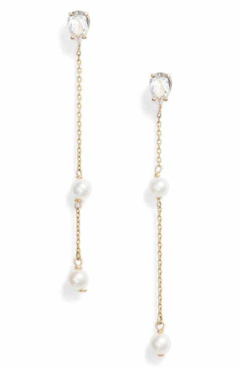 3e959041289e Poppy Finch Pearl   Topaz Drop Earrings