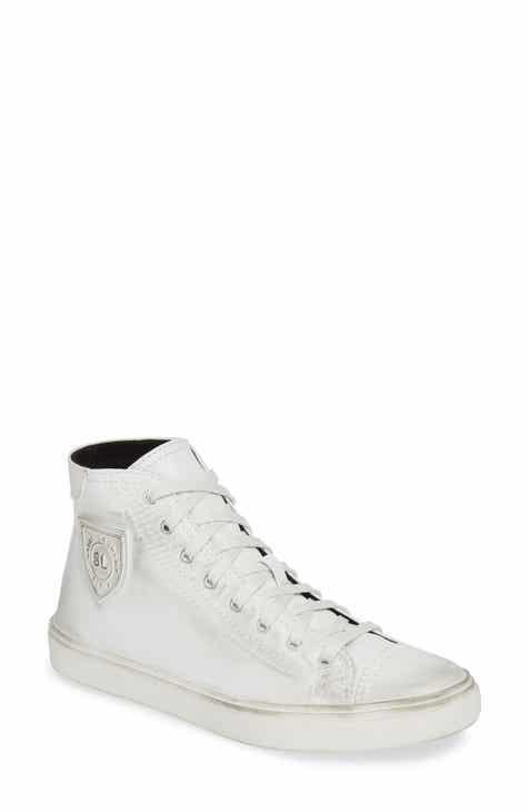 a670690cd985 Saint Laurent Bedford Distressed High Top Sneaker (Women)