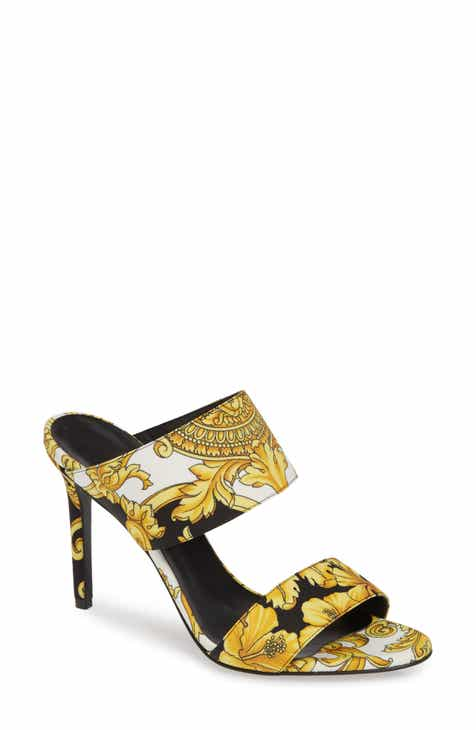 e5a0cb5ecb9d Versace First Line Hibiscus Print Double Band Sandal (Women)