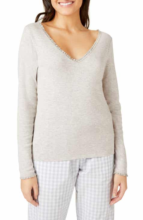 The White Company Lace Trim Pajama Top by THE WHITE COMPANY