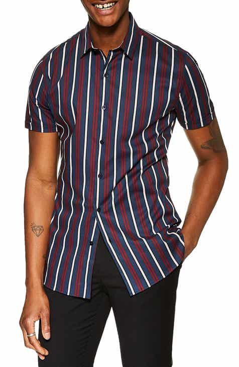 171a9603 Topman Stretch Skinny Fit Stripe Shirt