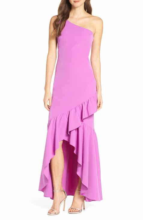 d95758d9144f Vince Camuto One-Shoulder High Low Evening Dress