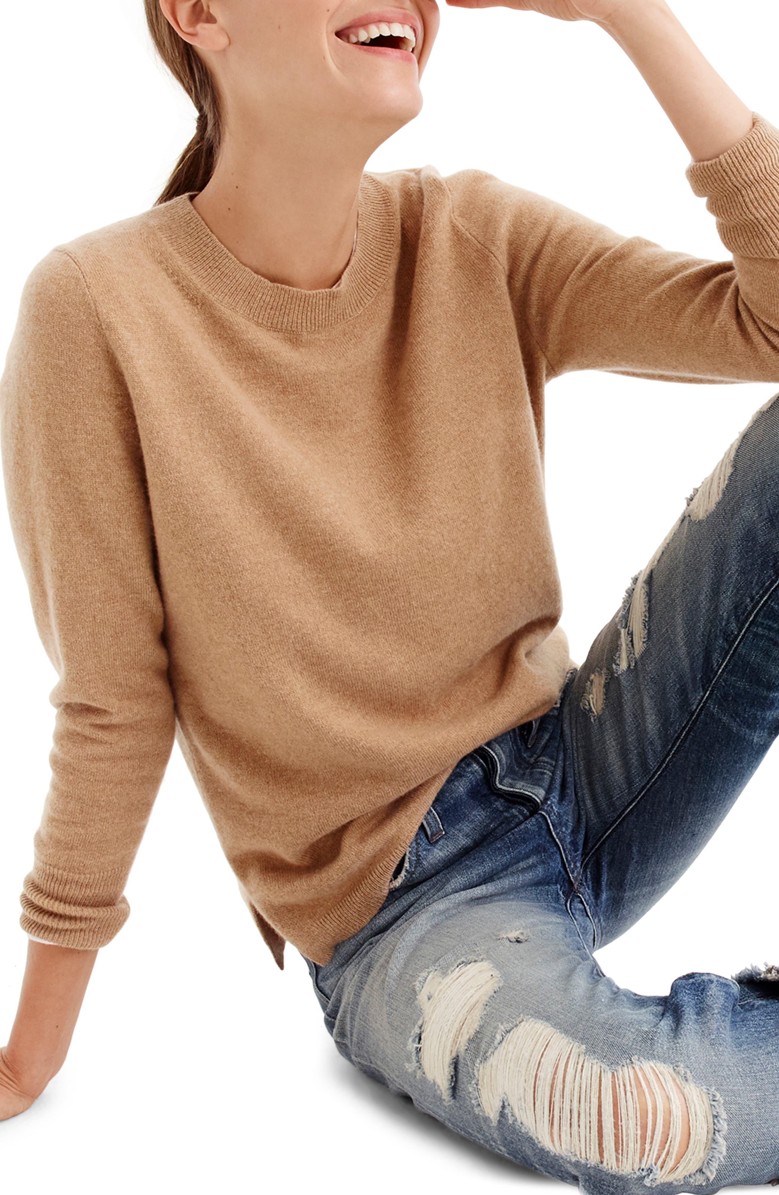 Sweaters Crew Brown Wool Silk Blend Sweater Size Small Ladies J