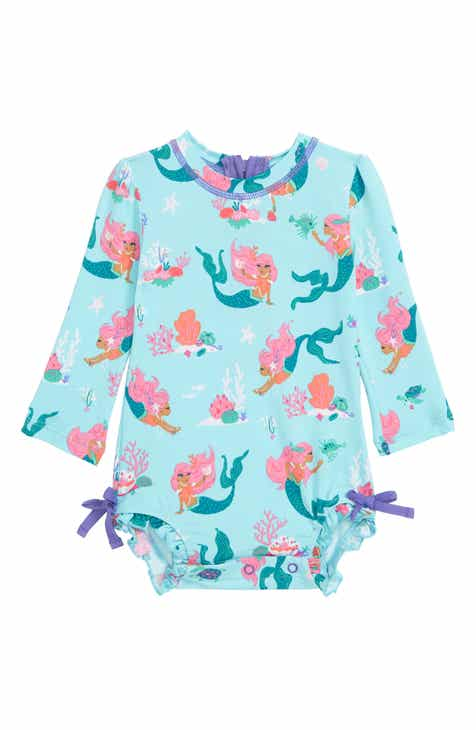 1e3484756a Hatley Mermaid Tales One-Piece Rashguard Swimsuit (Baby)