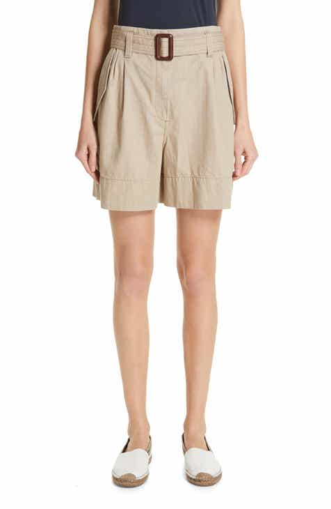 Brunello Cucinelli Belted Cotton Shorts by BRUNELLO CUCINELLI