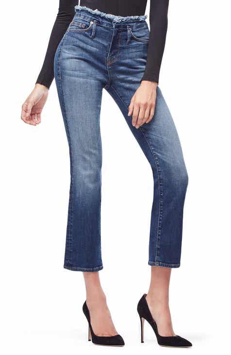 c4ed836ddb7 Good American Crop Straight Leg Jeans (Blue 192) (Regular   Plus Size)