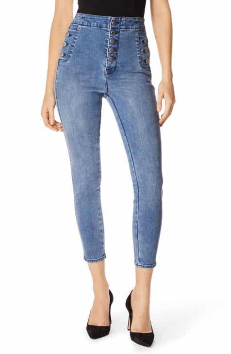 94ab3f351b9c J Brand Natasha Sky High Crop Skinny Jeans (Vega)