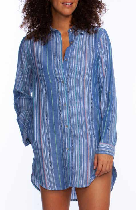 La Blanca Brunch to Boardwalk Cover-Up Shirtdress by LA BLANCA