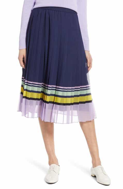 283b8c8a5de8c Halogen® Pleated Midi Skirt (Regular   Petite)