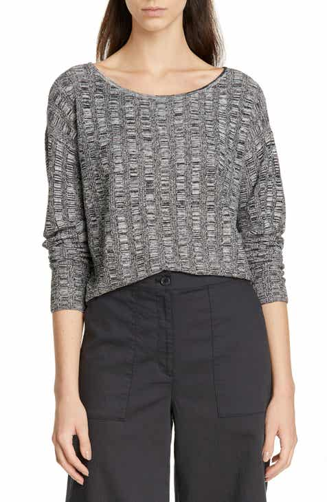 Eileen Fisher Silk & Organic Linen Sweater (Regular & Petite) by EILEEN FISHER