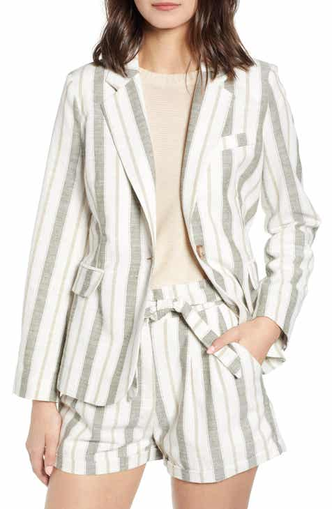 Heartloom Asher Stripe Linen Blend Blazer by HEARTLOOM