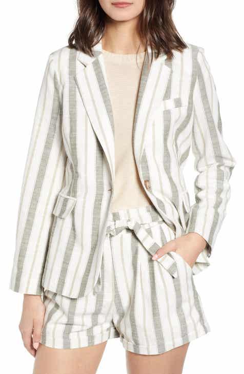 Heartloom Asher Stripe Linen Blend Blazer by HEARTLOOM