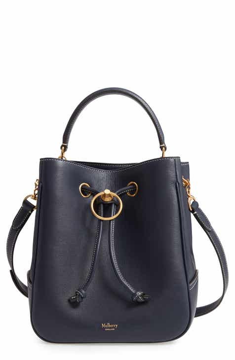 50c35f5b49 Mulberry Hampstead Silky Calfskin Leather Bucket Bag
