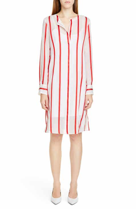 Mansur Gavriel Stripe Voile Shift Dress by MANSUR GAVRIEL