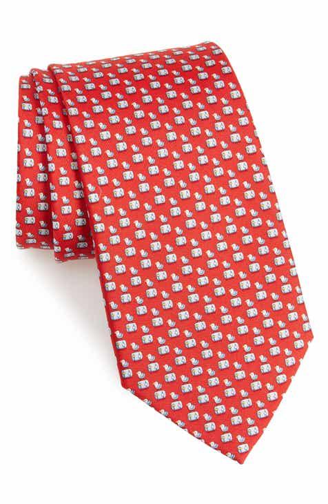 ec015c5f02ff Salvatore Ferragamo Bird Silk Tie
