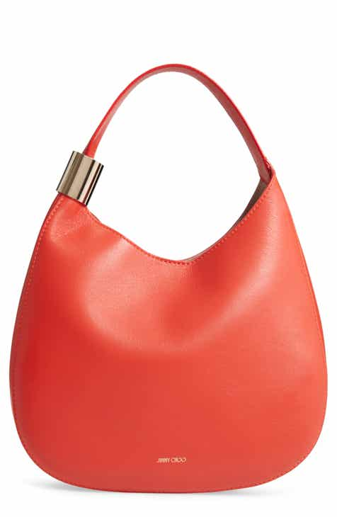 8fc6fe0e3f0b3 Jimmy Choo Stevie Lambskin Leather Hobo