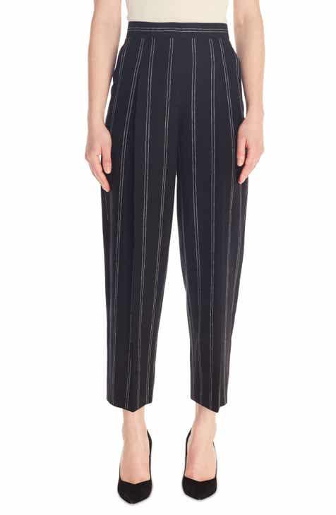 sandro Malys Stripe Wide Leg Linen Blend Pants by SANDRO