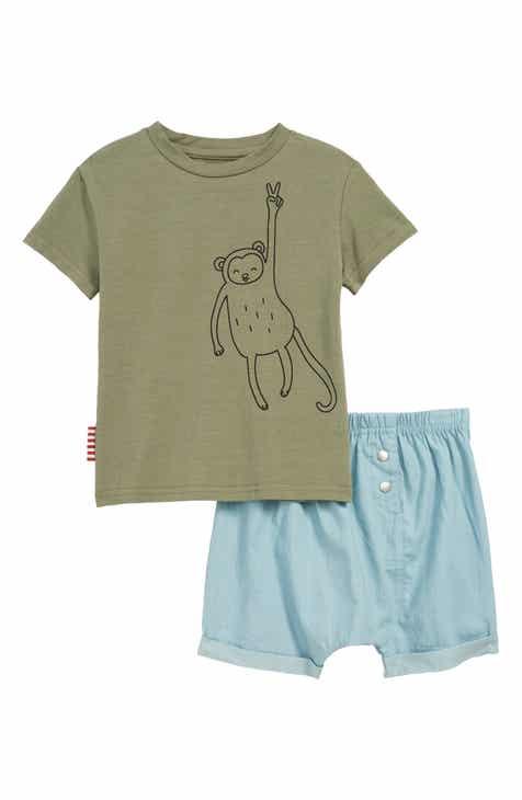 SOOKIbaby Hanging Monkey T-Shirt & Shorts Set (Baby)