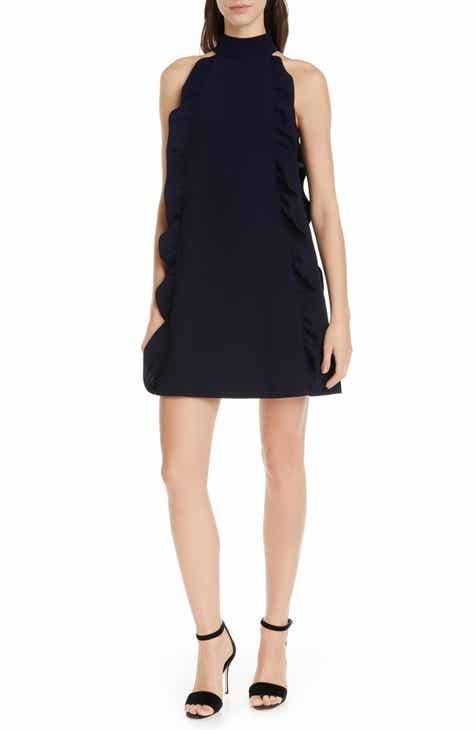 Halogen® Faux Wrap Dress (Regular & Petite) by HALOGEN