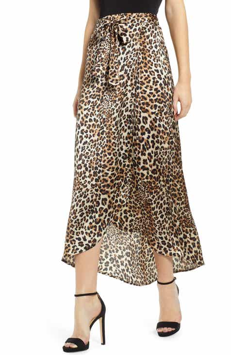 Know One Cares Leopard Print Maxi Skirt by KNOWONECARES