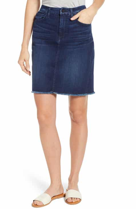 e597054ace65f JEN7 by 7 For All Mankind Raw Hem Denim Pencil Skirt