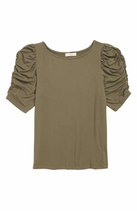 Tucker + Tate Ruched Sleeve Tee (Big Girls)