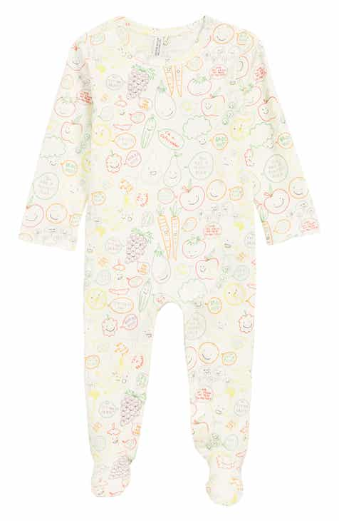eb865f66abd Stella McCartney Fruit   Veggie Print Footie (Baby)
