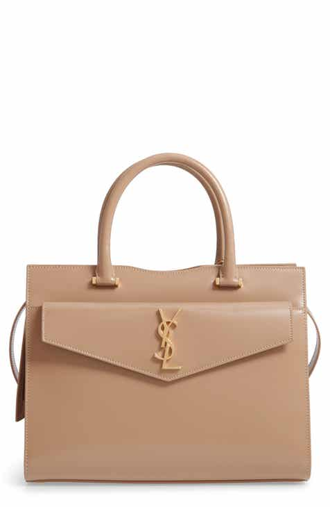 ac13baea04 Saint Laurent Uptown Small Cabas Leather Satchel