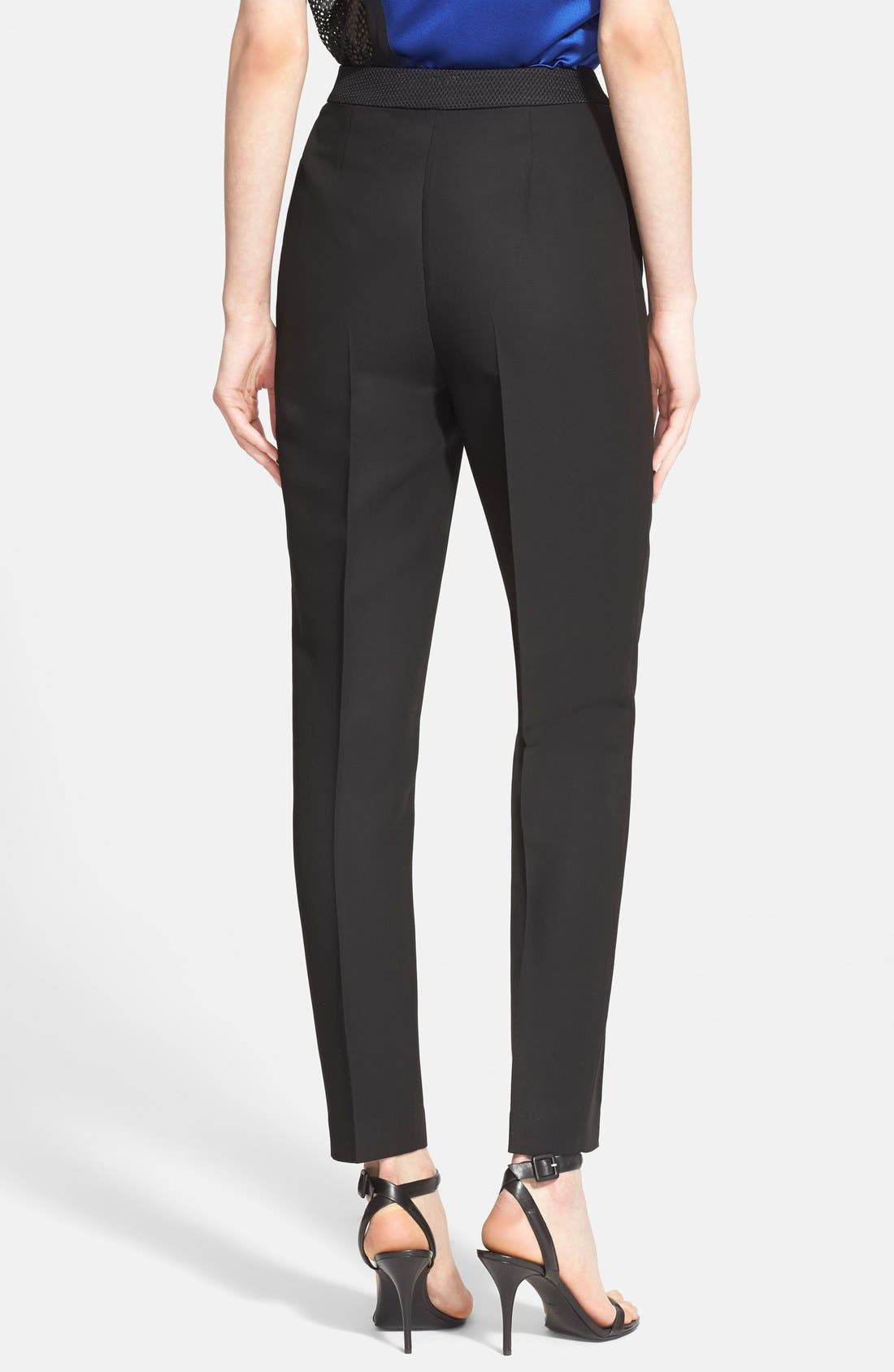 Alternate Image 2  - Alexander Wang High Waist Tailored Pants with Leather Detail