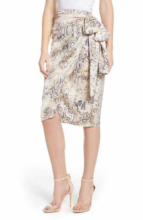 All Things Mochi Lea Linen Maxi Wrap Skirt by ALL THINGS MOCHI