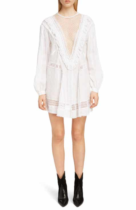 Isabel Marant Rowina Crochet Lace Inset Long Sleeve Dress By ISABEL MARANT by ISABEL MARANT 2019 Coupon