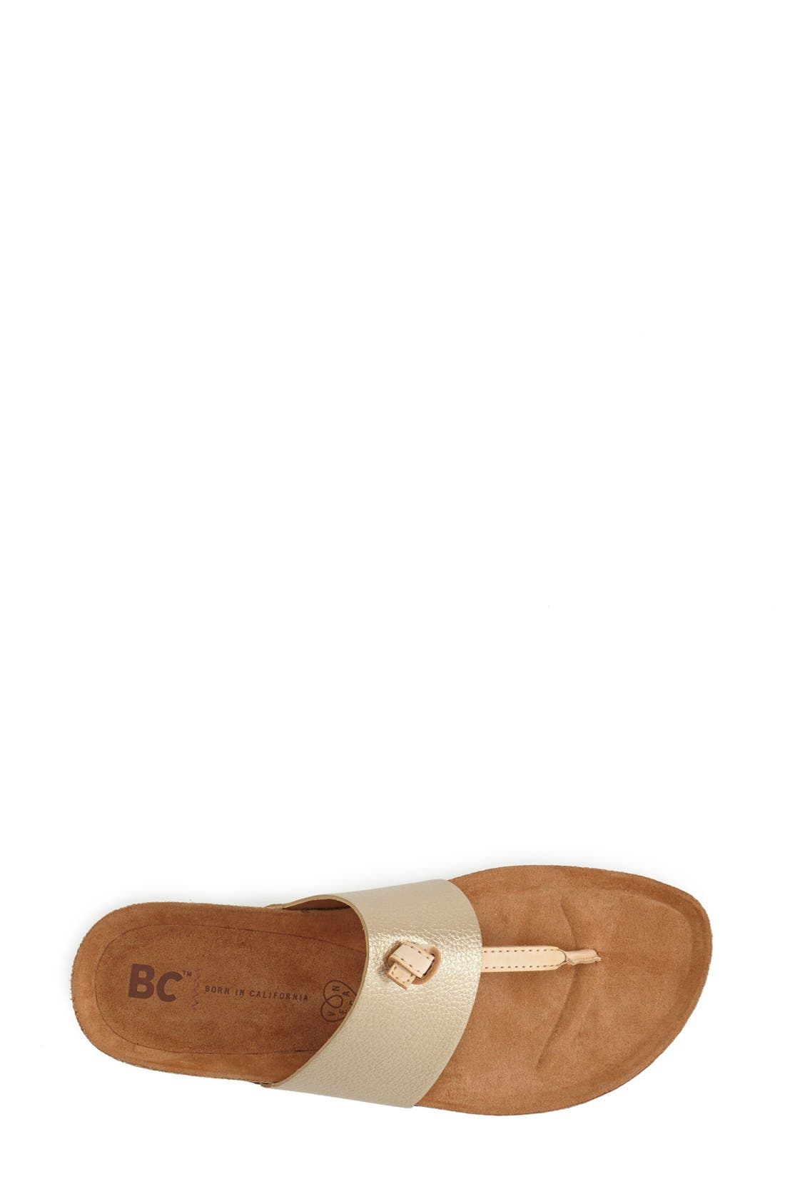 Alternate Image 3  - BC Footwear 'Lynx' Faux Leather Thong Sandal (Women)