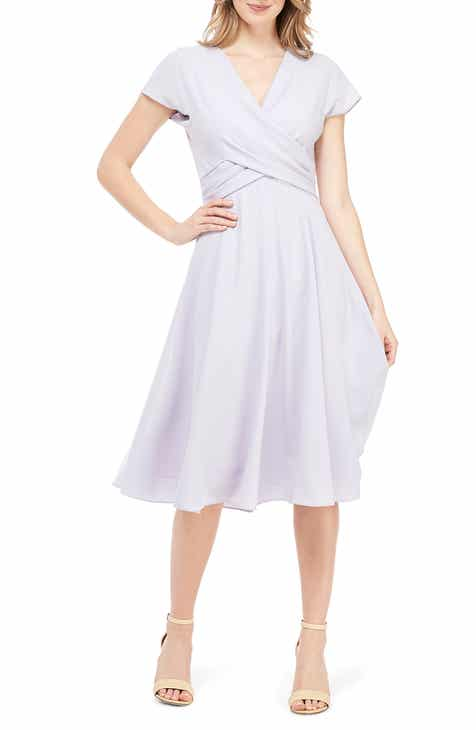 0020e51ed52 Gal Meets Glam Collection Crisscross Bodice Dress (Regular   Petite)