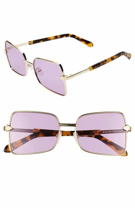 f4ba881d5698 Karen Walker Wisdom 56mm Square Sunglasses