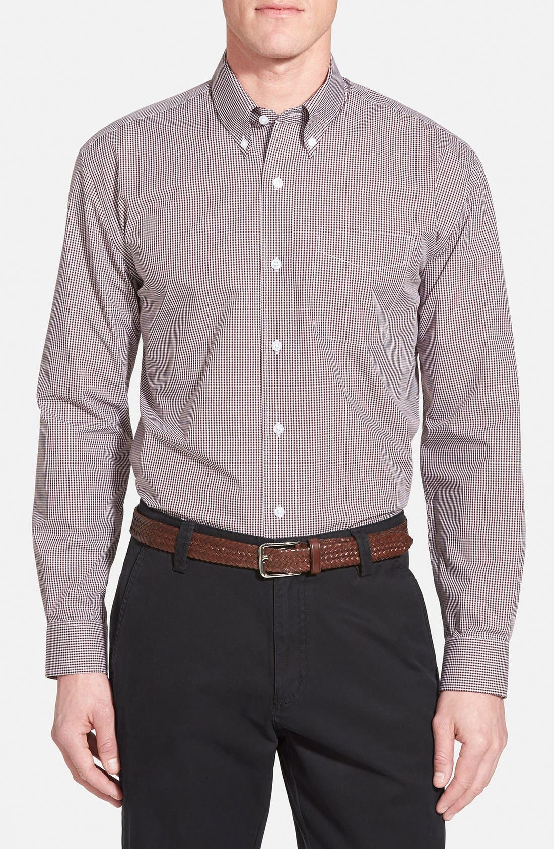 Cutter & Buck 'Epic Easy Care' Classic Fit Wrinkle Free Gingham Sport Shirt (Online Only)