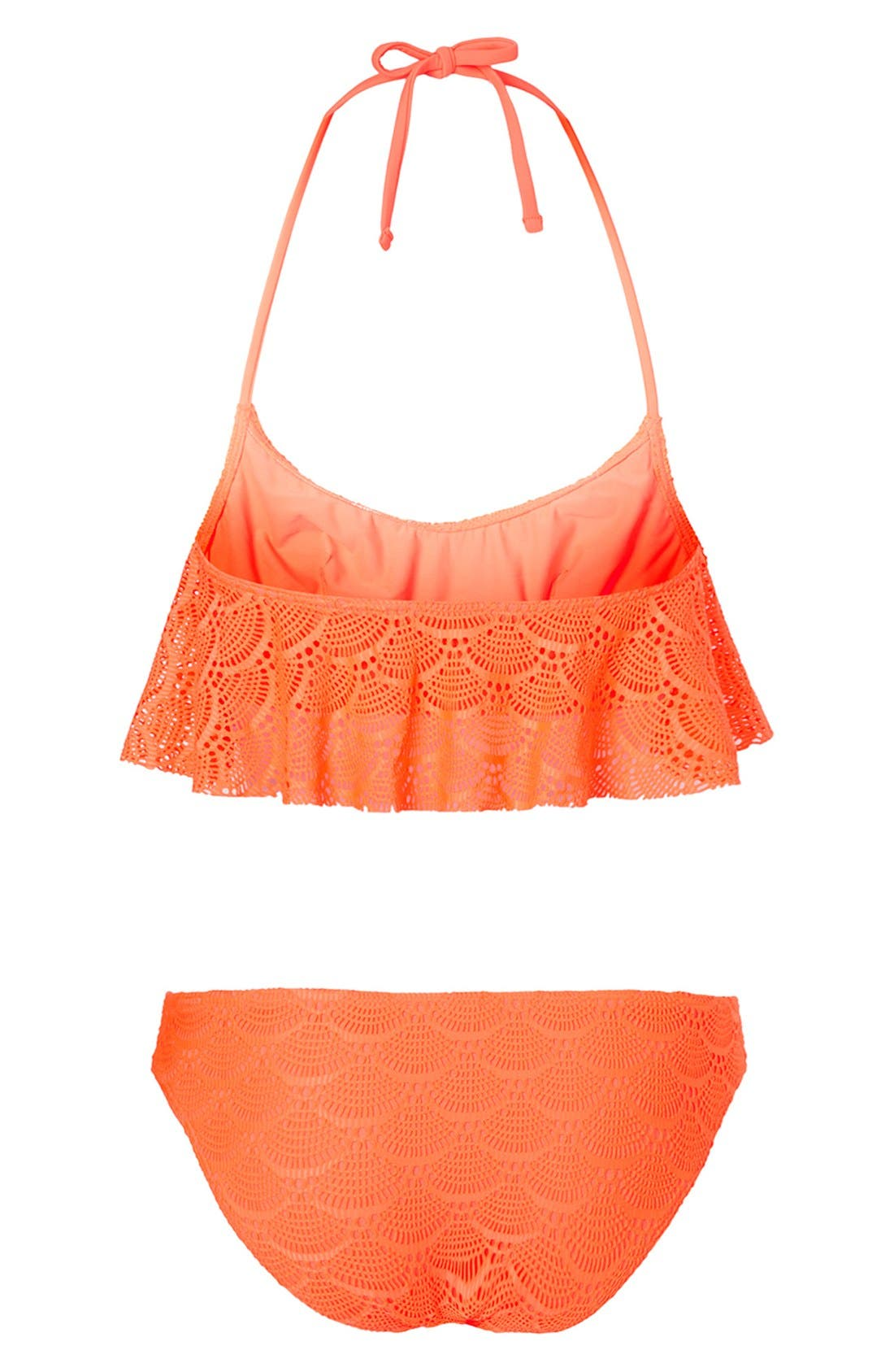 Alternate Image 2  - Topshop Crochet Bikini Set