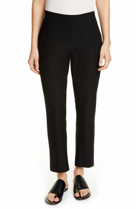 Caslon® Linen Crop Pants (Regular & Petite) by CASLON