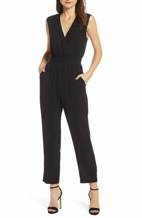 WAYF Fallon Smocked Jumpsuit