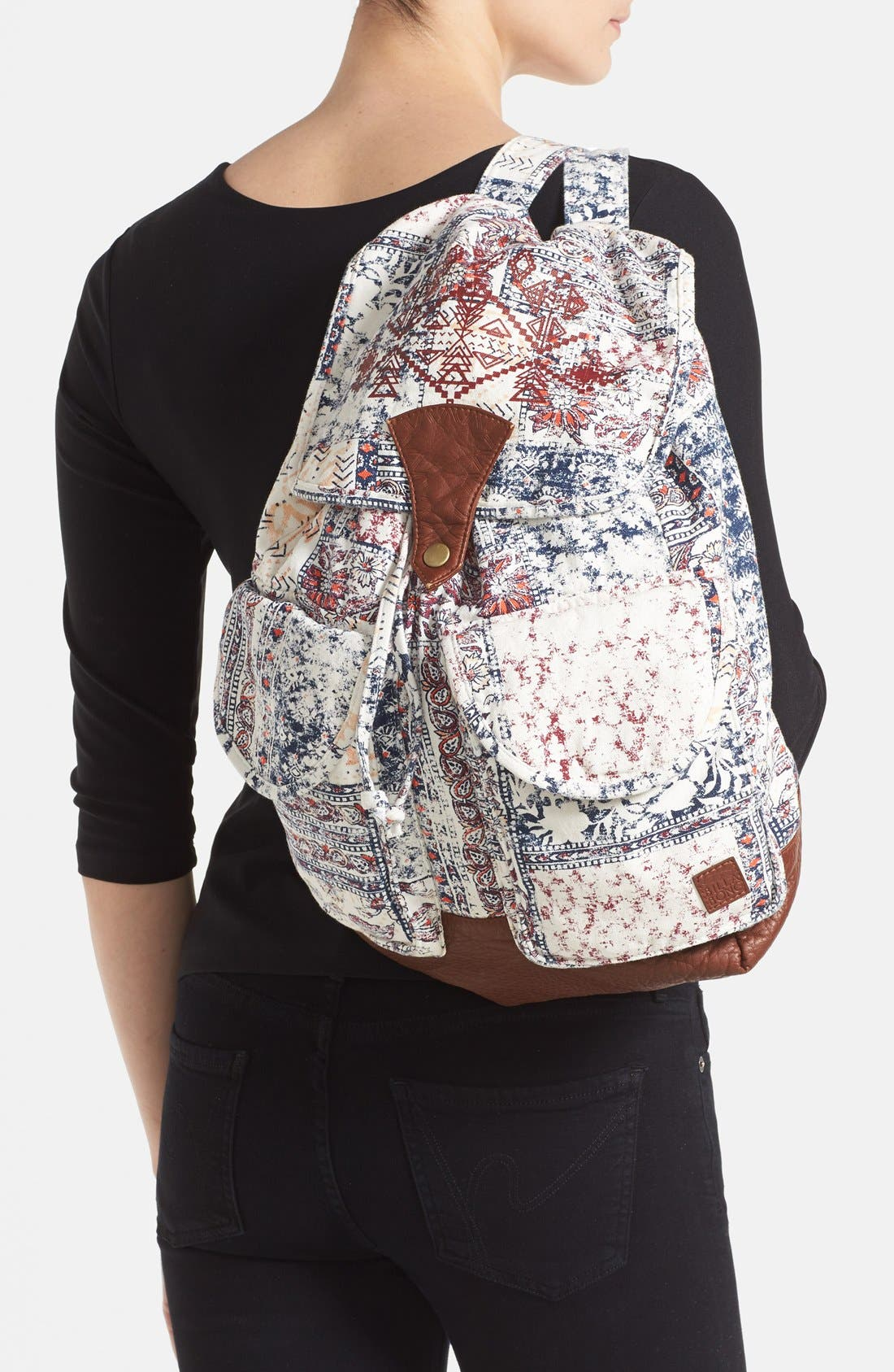 Alternate Image 2  - Billabong 'Midnight Moonz' Slouchy Canvas Backpack