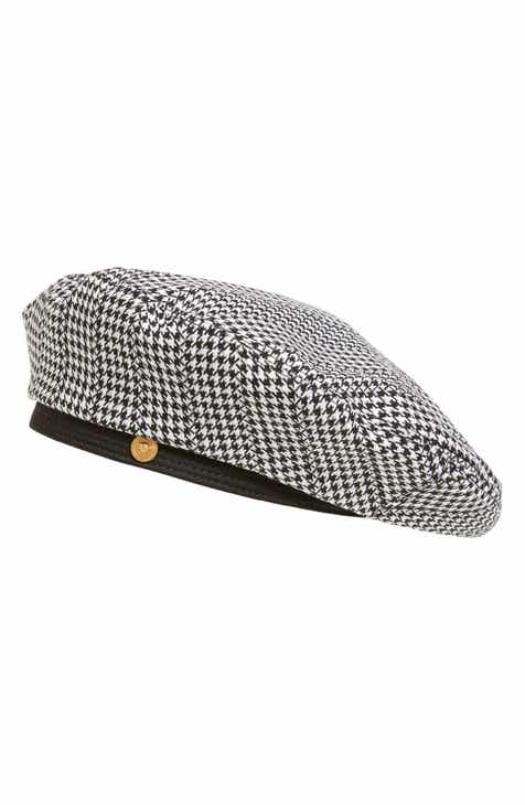 557102fb66425 Versace First Line Houndstooth Beret