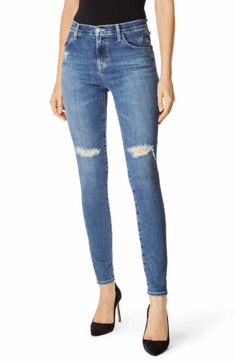 Free People Lita Ripped Straight Leg Jeans by FREE PEOPLE