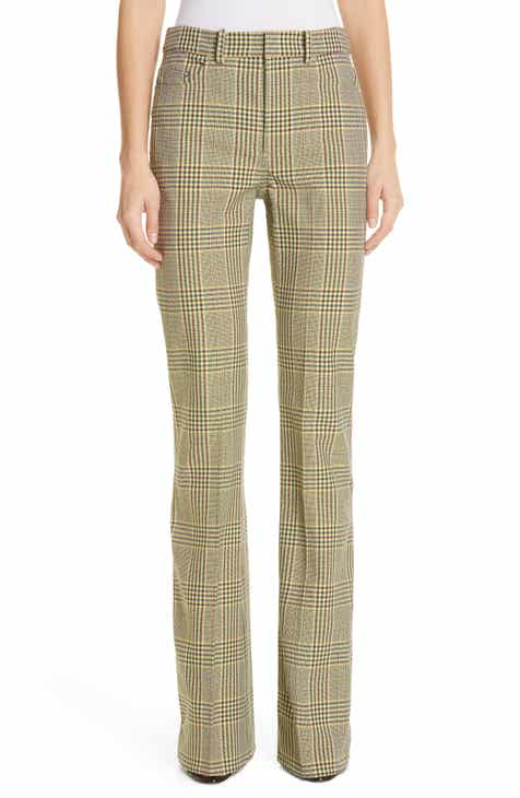 Adeam Plaid Bootcut Pants by ADEAM
