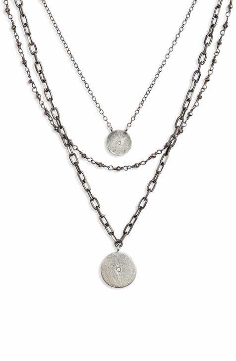 3e3e818c2 ela rae Triple Layer Necklace