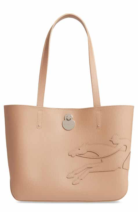 21cc7adb2eee Longchamp Small Shop-It Leather Tote