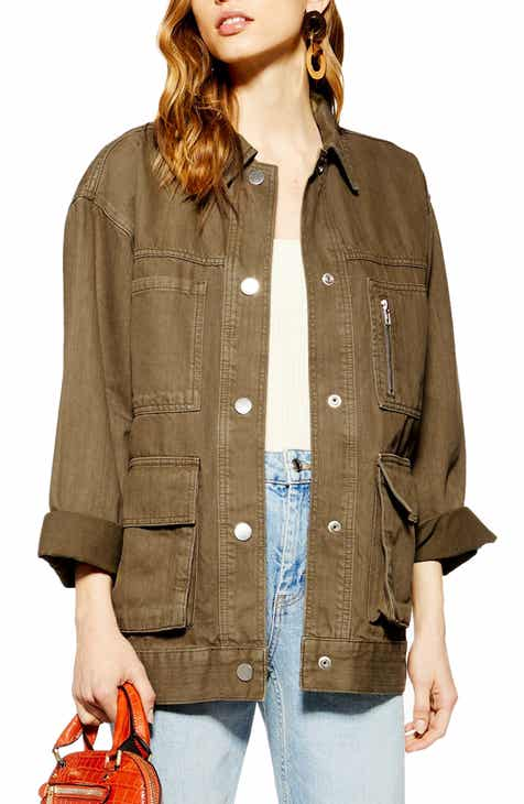 Whistles Contrast Stitch Cotton Trucker Jacket by WHISTLES