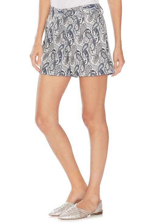Theory Linen Blend Shorts by THEORY