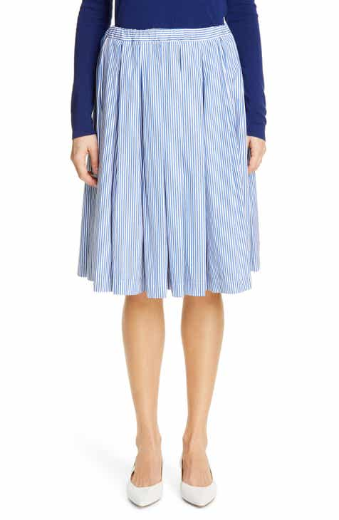 Mansur Gavriel Stripe Box Pleat Skirt by MANSUR GAVRIEL