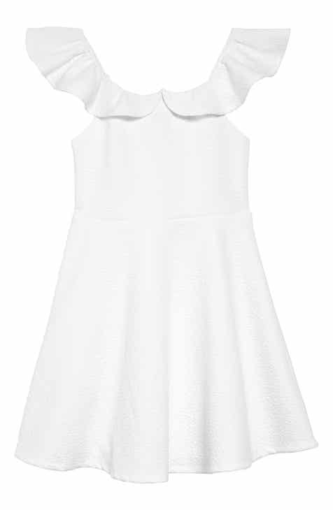 3107cfcfd23 Ava   Yelly Ruffle Off the Shoulder Skater Dress (Big Girls)