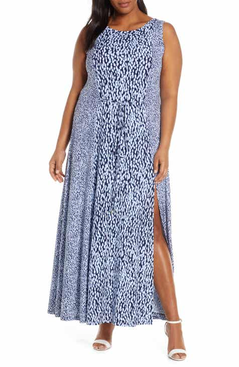 362f9b18a4b8e MICHAEL Michael Kors Pattern Mix Sleeveless Maxi Dress (Plus Size)