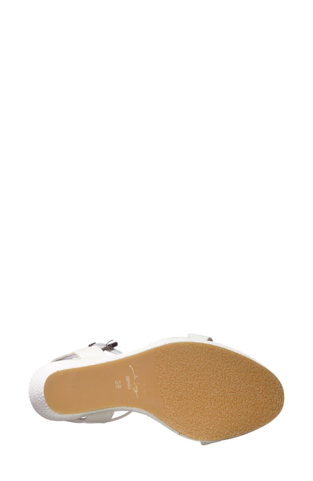 Alternate Image 2  - Lola Cruz Chain T-Strap Wedge Sandal (Women)